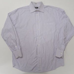 Canali Mens L/S Button Front Dress Shirt 16 1/2